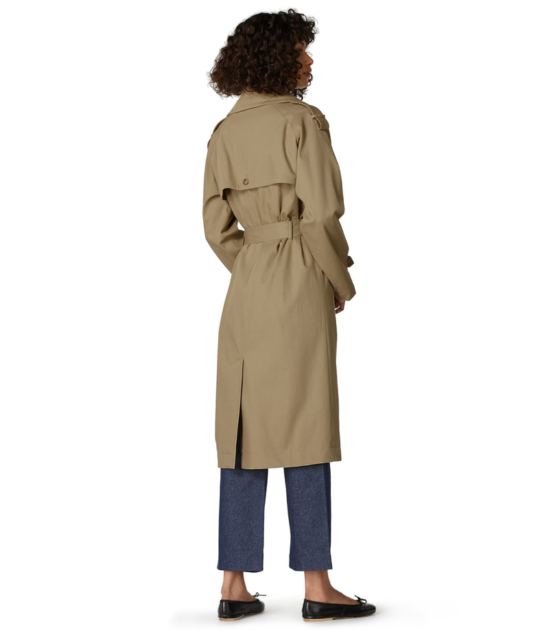 This is the Simone trench coat product item. Style BAA-3 is shown.