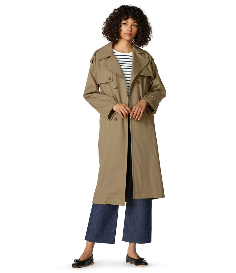 This is the Simone trench coat product item. Style BAA-2 is shown.