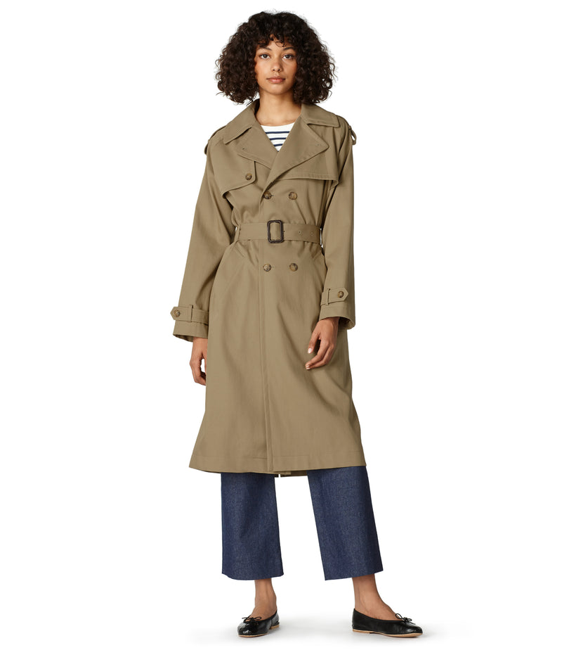 This is the Simone trench coat product item. Style BAA-4 is shown.