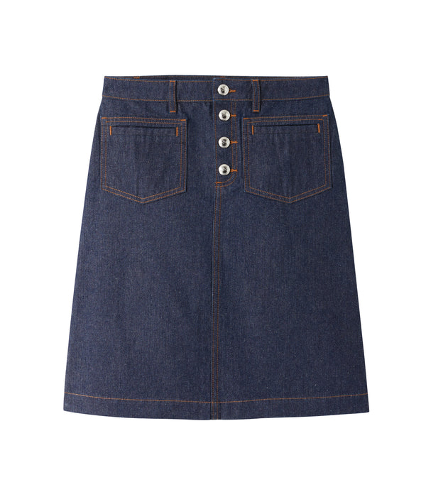 Michelle skirt - IAL - Stonewashed indigo
