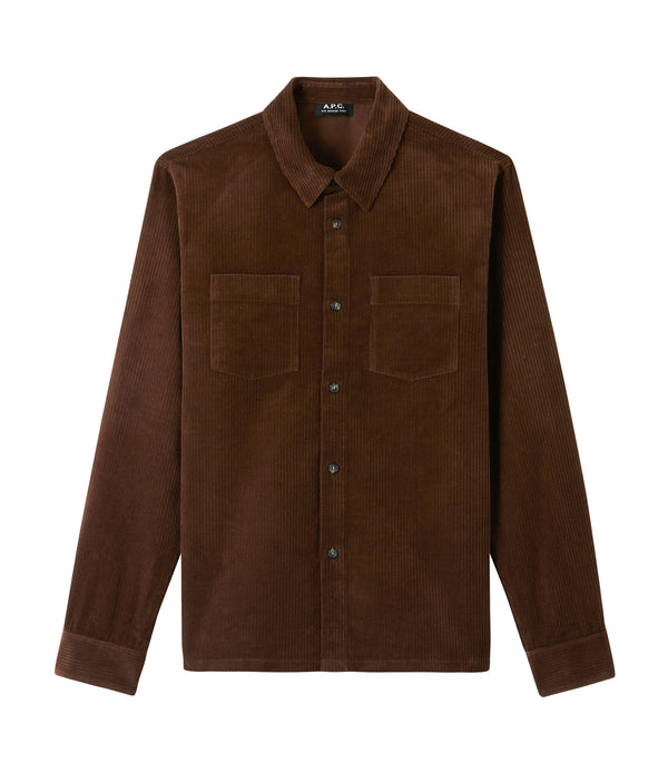 Joe overshirt - CAA - Chocolate