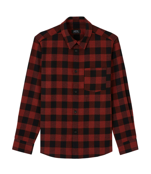 John overshirt - EAF - Brick red