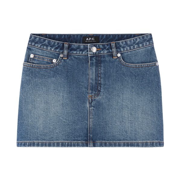 Mini-skirt - IAL - Stonewashed indigo