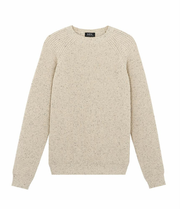 Rib sweater - PAA - Heathered ecru
