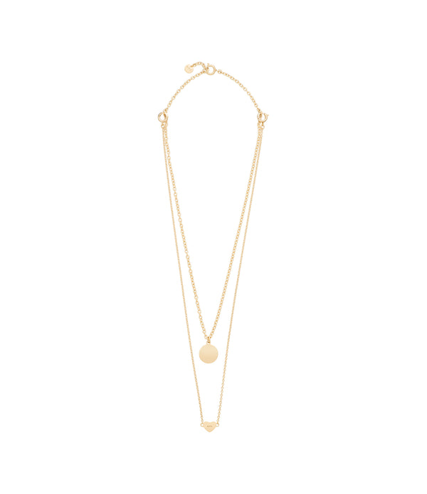 Cœur double necklace - RAA - Goldtone