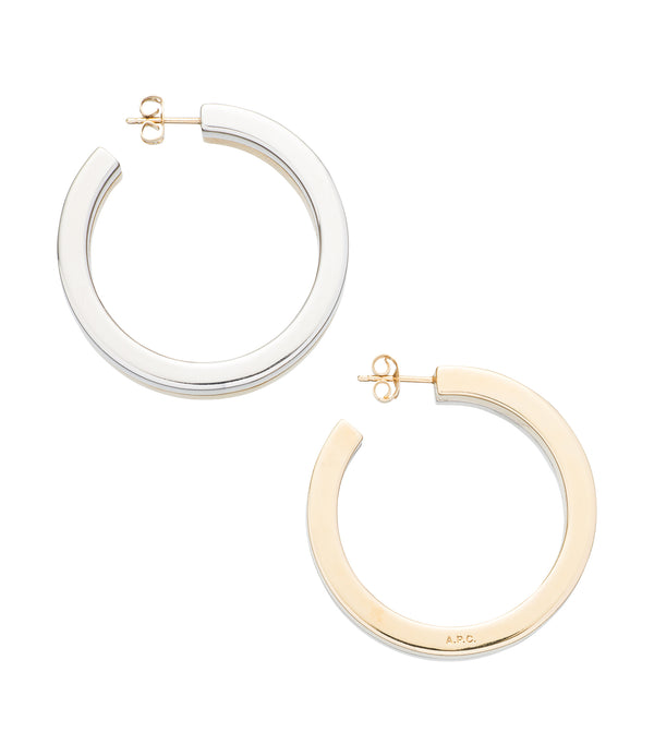 Mathilde hoop earrings - SAB - Two-tone