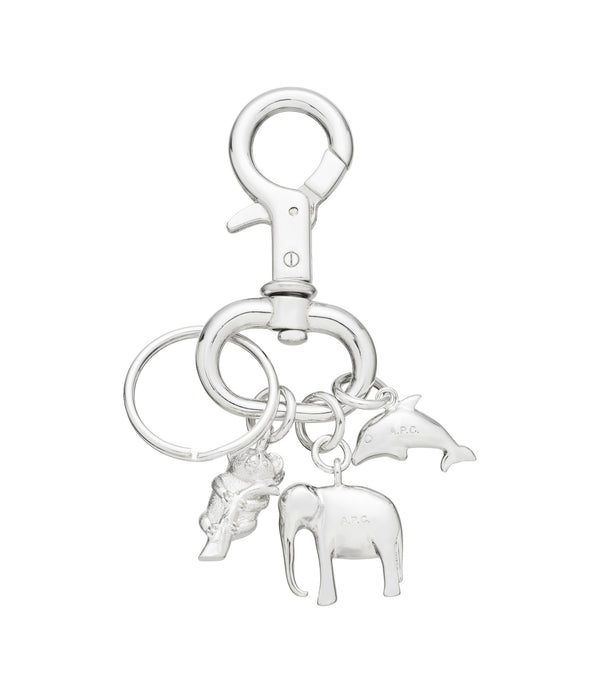 Animals key ring - RAB - Silvertone