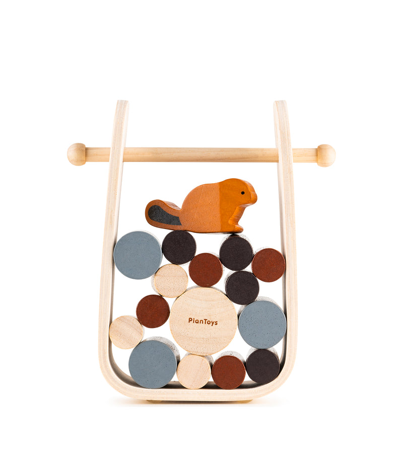 This is the Timber tumble game - Plan Toys product item. Style BAA-1 is shown.