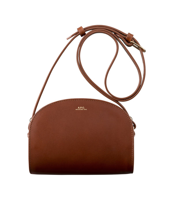 Mini demi-lune bag - CAD - Nut brown
