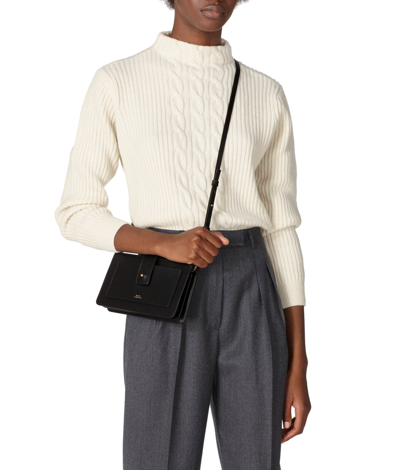 Albane clutch - Smooth leather - A.P.C. Ready-to-Wear