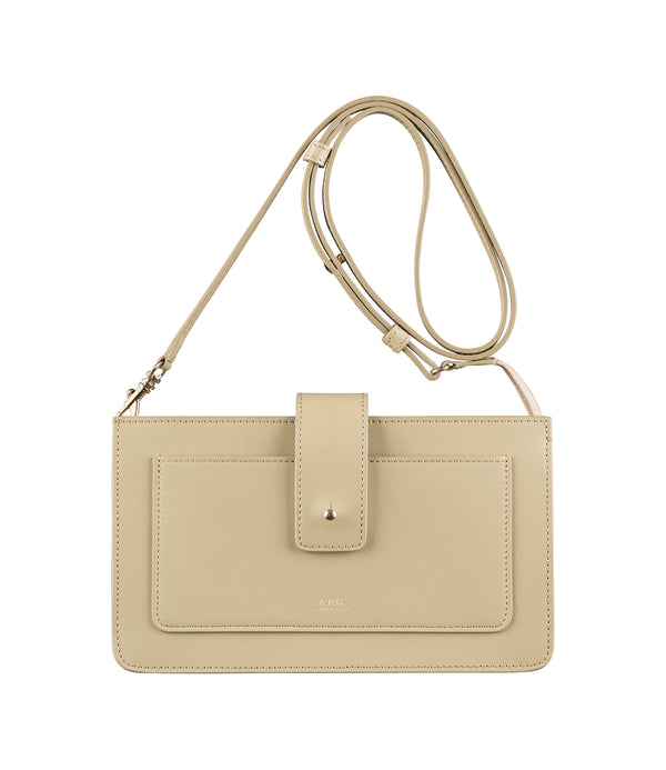 Albane clutch - KAC - Almond green