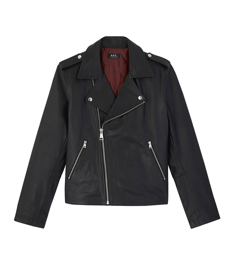 This is the Biker jacket uno product item. Style LZZ-1 is shown.