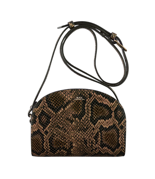 Demi-lune mini bag - CAE - Brown