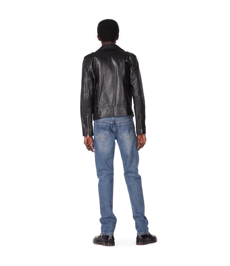 This is the Biker jacket uno product item. Style LZZ-3 is shown.