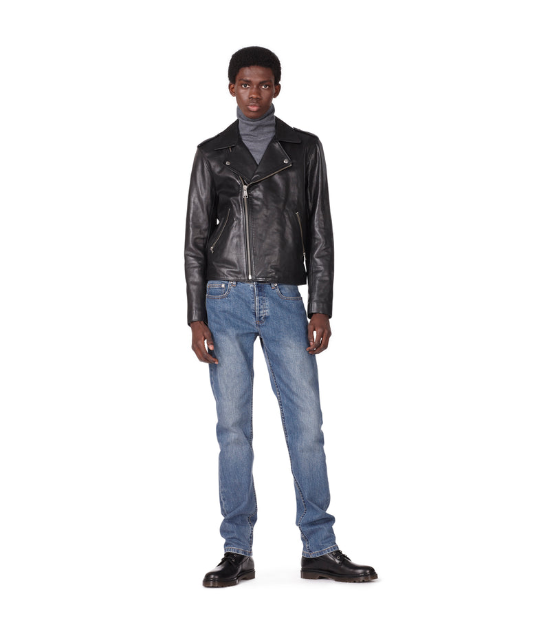 This is the Biker jacket uno product item. Style LZZ-2 is shown.