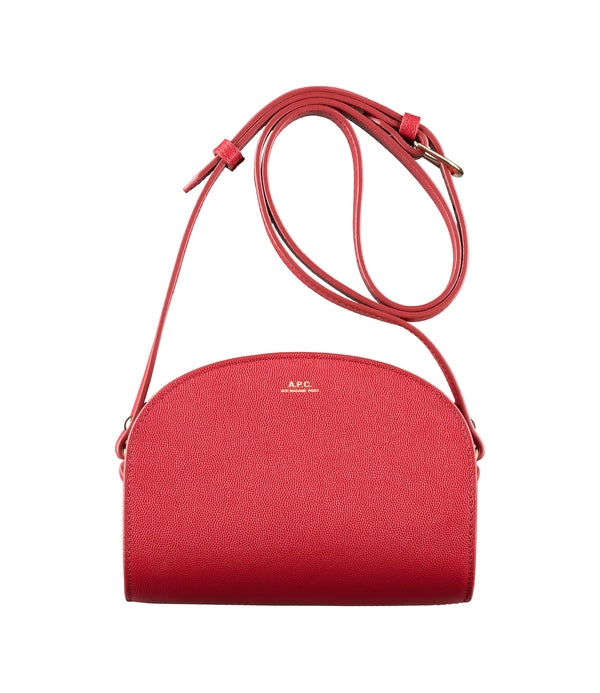 Mini Demi-Lune bag - GAB - Dark red