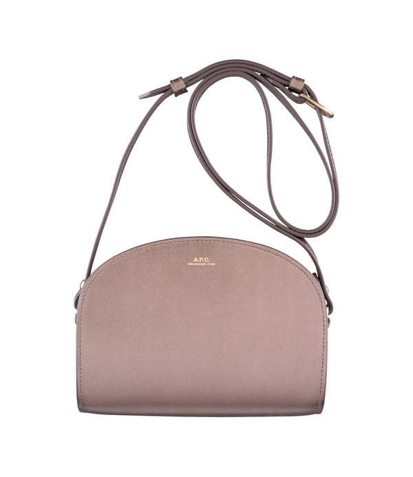 Demi-Lune mini bag - CAC - Frosted chestnut brown