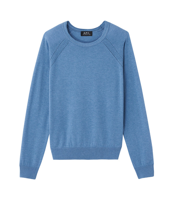 Lilas sweater - PIC - Heather steel blue