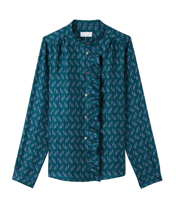 Séverine blouse - KAF - Dark green