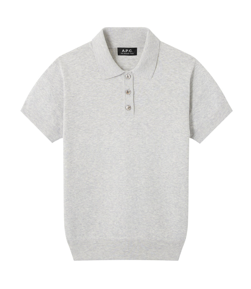 This is the Mathilda polo shirt product item. Style PLB-1 is shown.