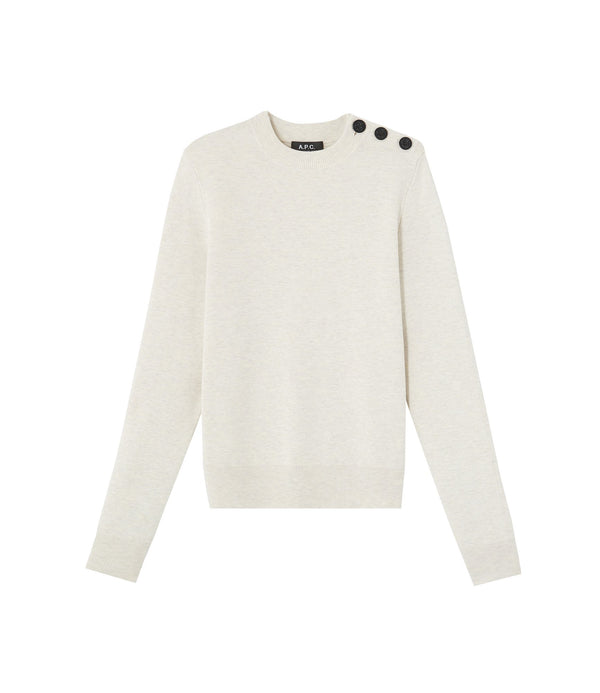Caroline sweater - PAA - Heathered ecru