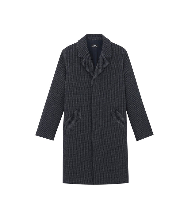 Cyrielle coat - PIA - Heathered navy blue