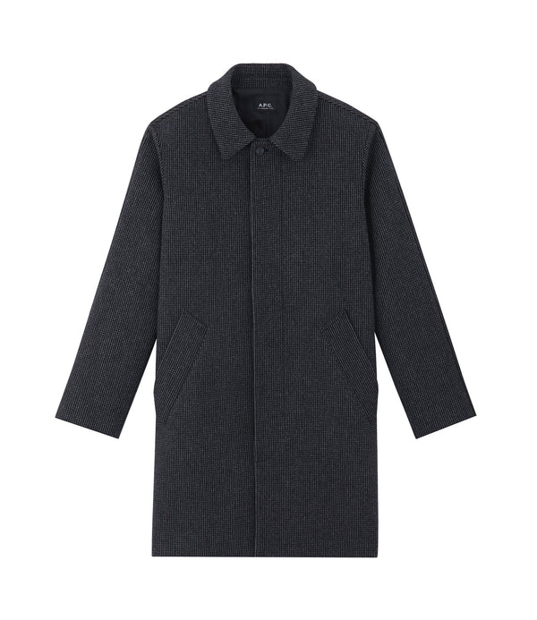 Portobello coat - PIA - Heathered navy blue