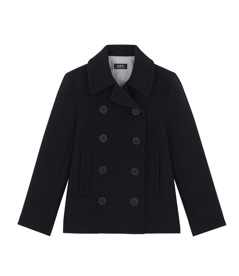 This is the Swinging pea coat product item. Style LZZ-1 is shown.
