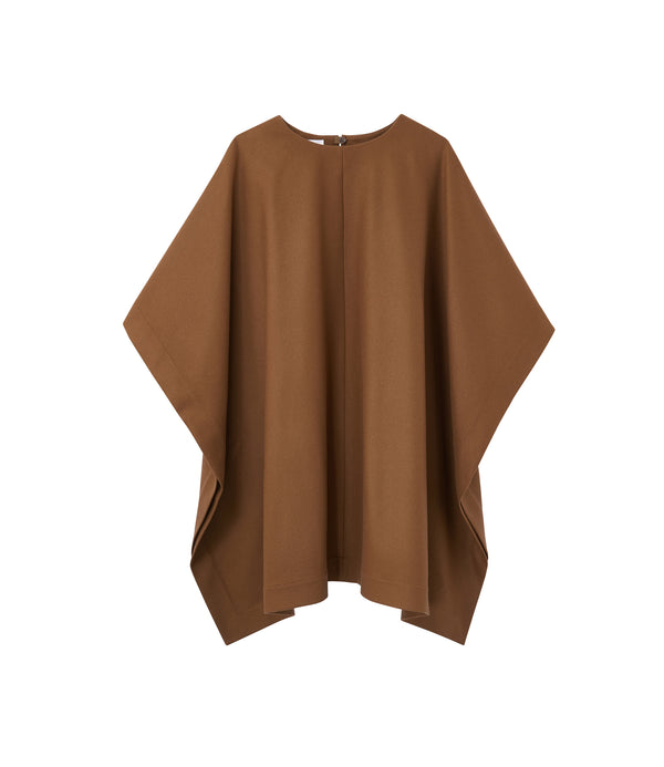 Margarete poncho - CAC - Frosted chestnut brown