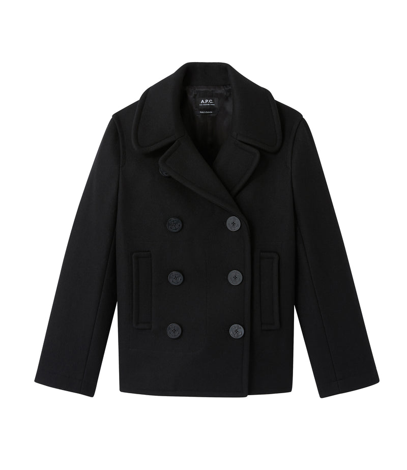 This is the Swinging pea coat product item. Style LZA-1 is shown.