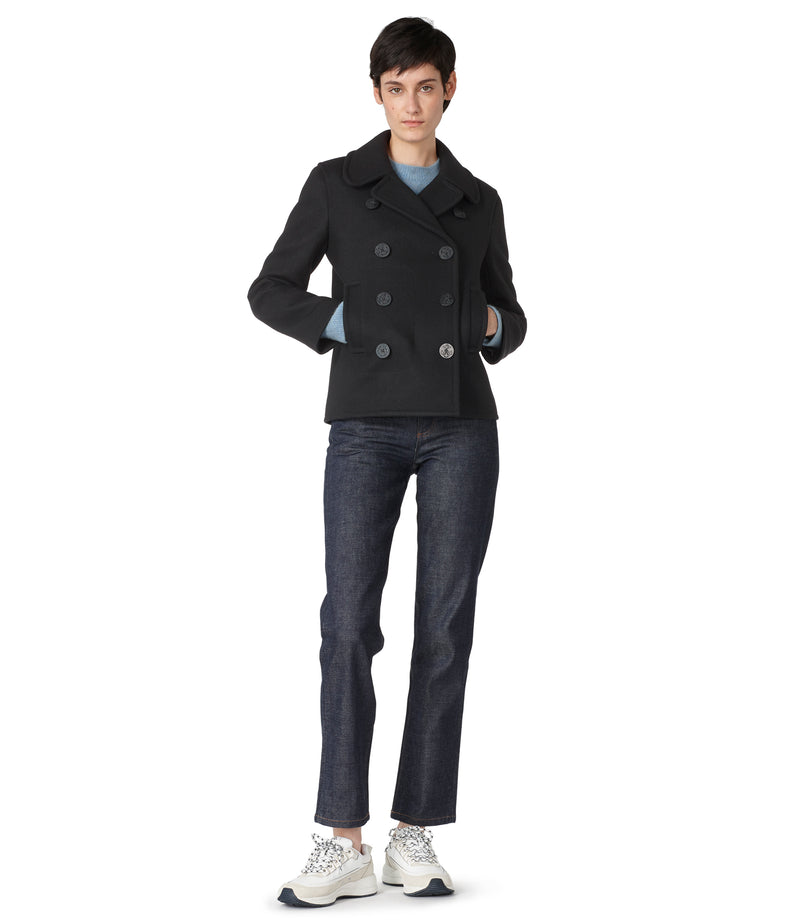 This is the Swinging pea coat product item. Style LZA-4 is shown.