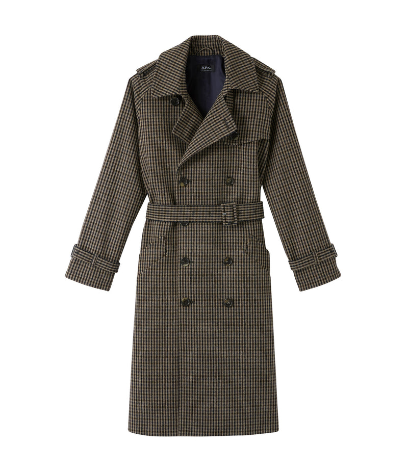 This is the Greta trench coat product item. Style BAC-1 is shown.