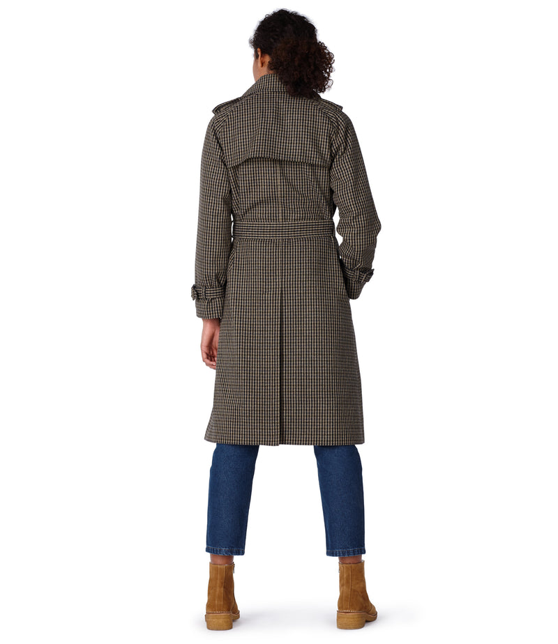 This is the Greta trench coat product item. Style BAC-3 is shown.