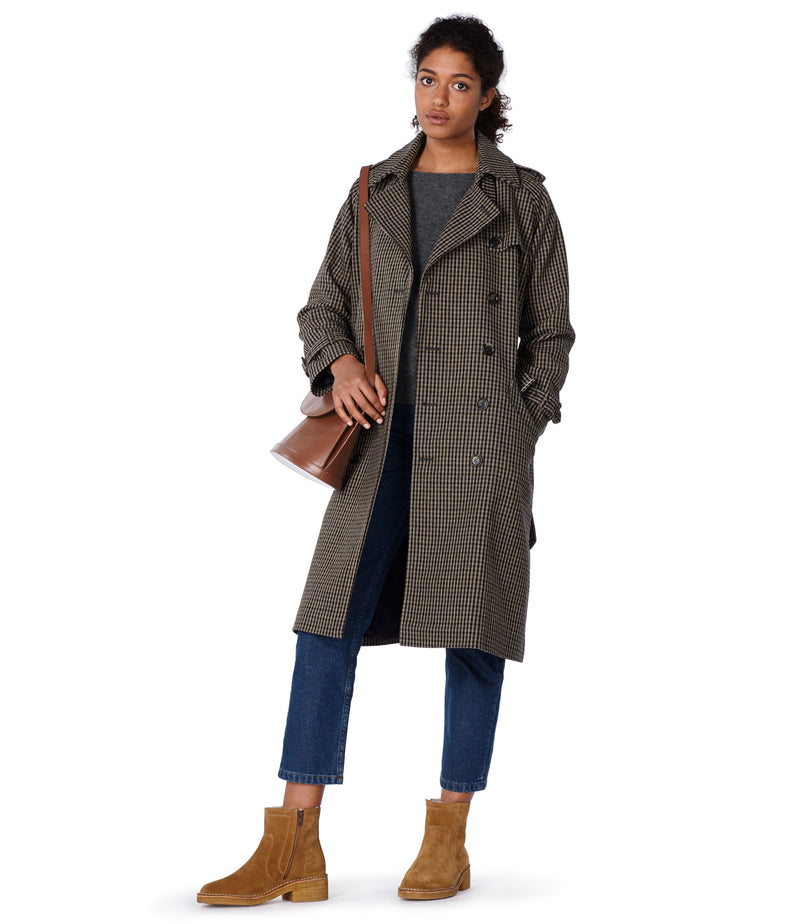 This is the Greta trench coat product item. Style BAC-2 is shown.