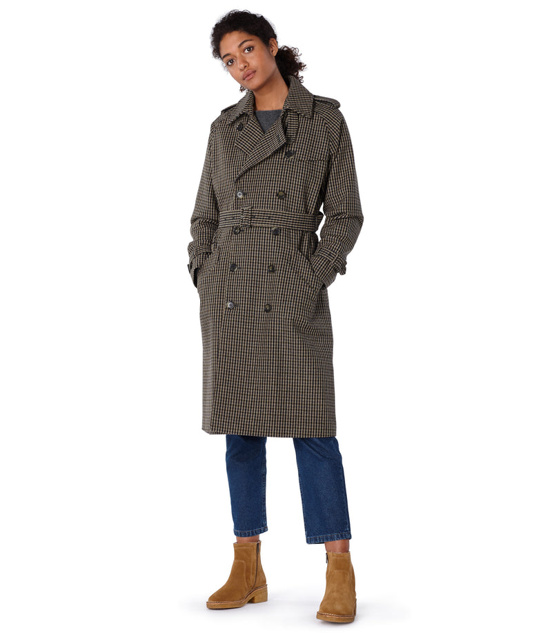 This is the Greta trench coat product item. Style BAC-4 is shown.