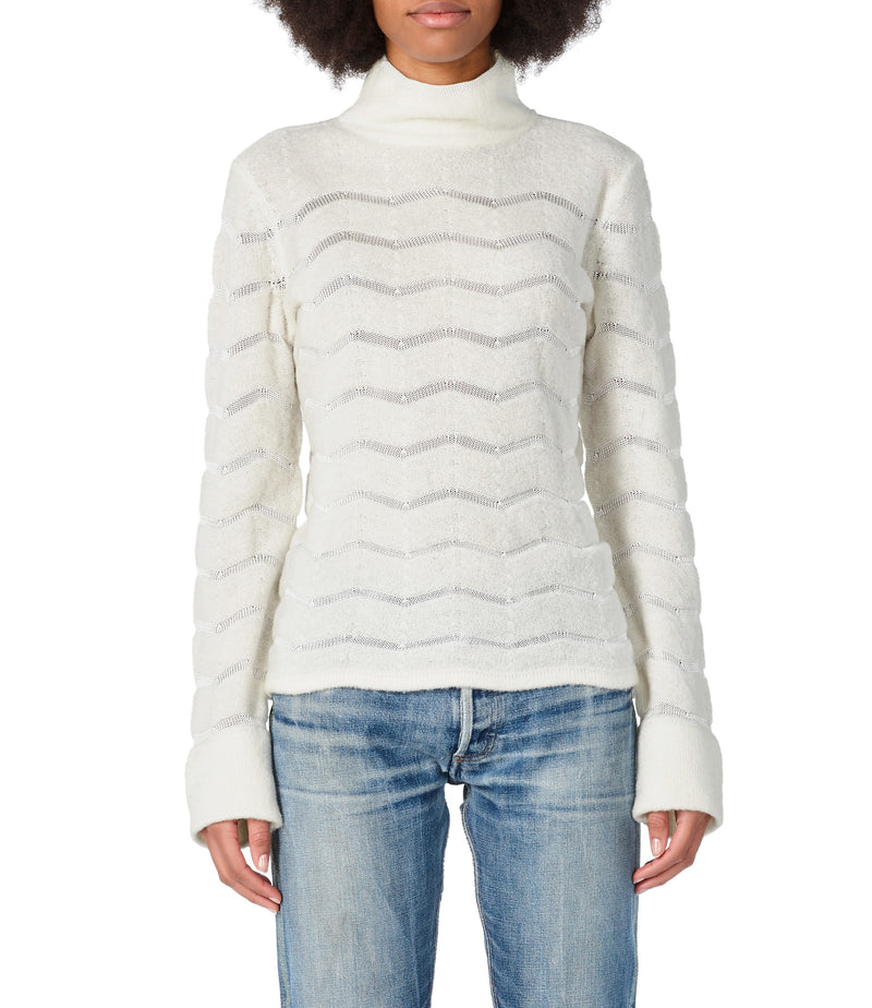 This is the Léona sweater product item. Style AAC-4 is shown.