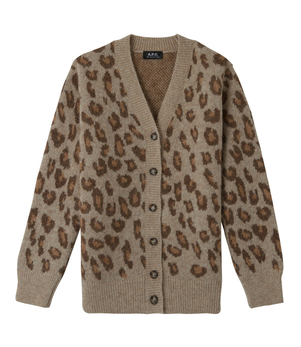Erika cardigan - CAC - Frosted chestnut brown