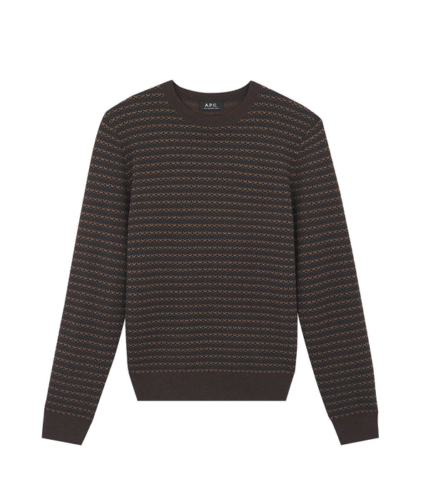 Dito sweater - PCA - Heathered chestnut brown
