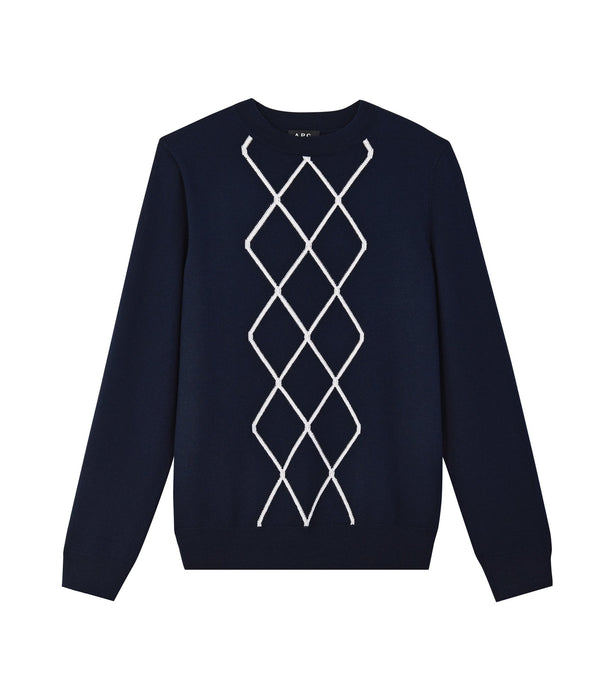 Stephen sweater - IAK - Dark navy blue