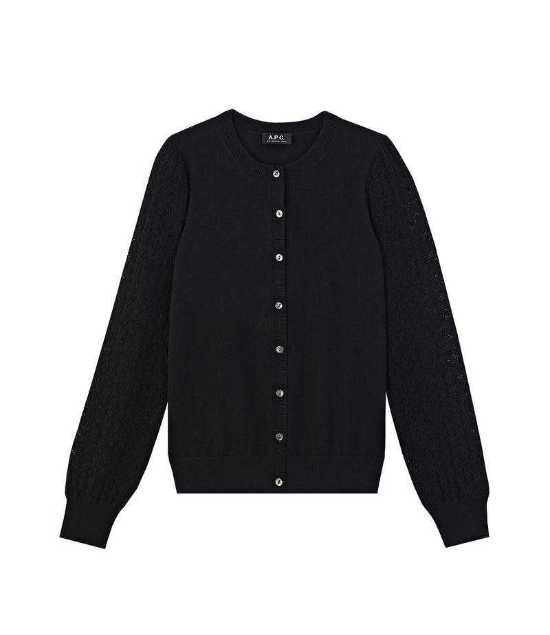 This is the Cora cardigan product item. Style LZZ-1 is shown.