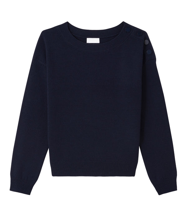 Marinière sweater - IAK - Dark navy blue