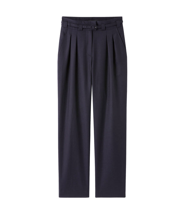 Joan pants - IAK - Dark navy blue