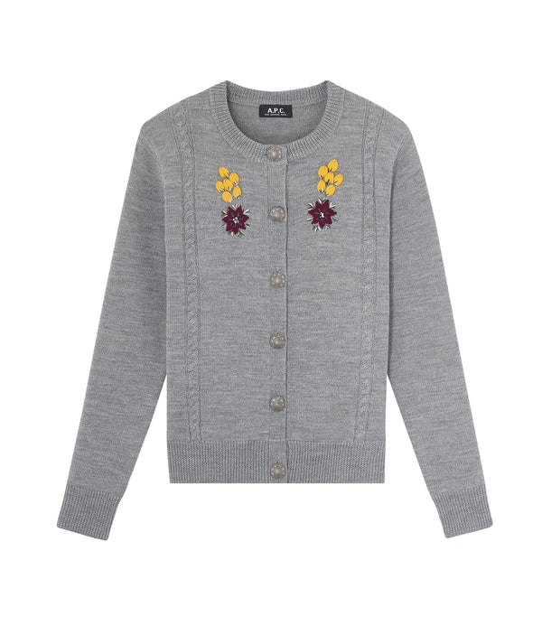 Heidi cardigan - PLA - Heather gray