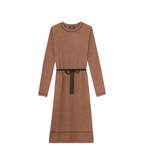 Kerry dress - CAC - Frosted chestnut brown