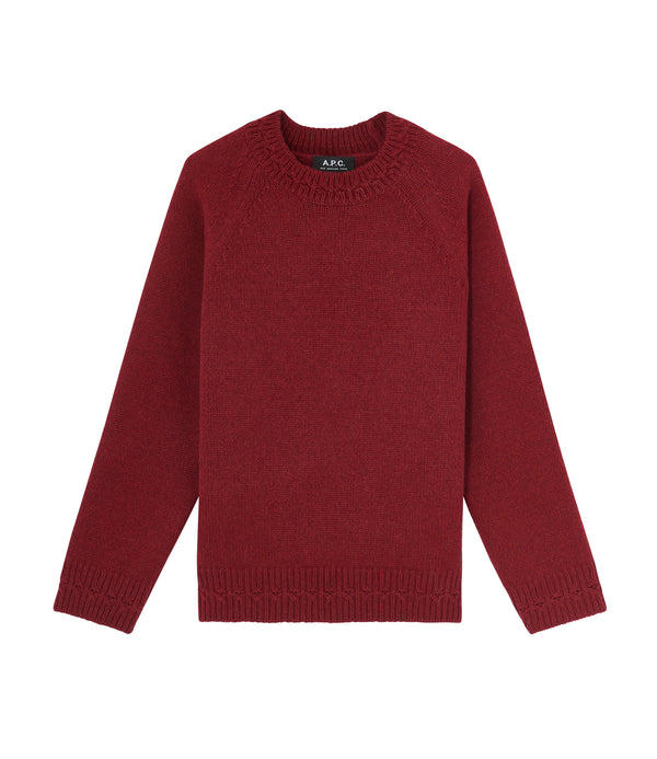 Wicklow sweater - GAB - Dark red