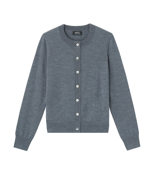 Marine cardigan - PLC - Heather charcoal gray