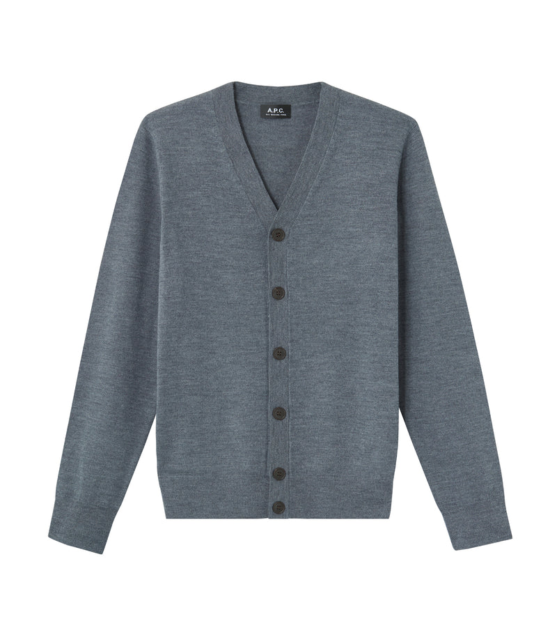 This is the Samuel cardigan product item. Style PLC-1 is shown.