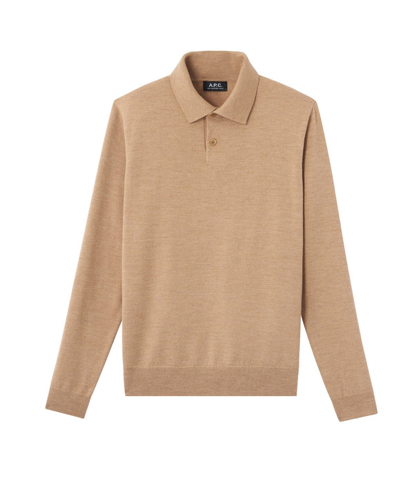 Jerry polo shirt - PBC - Heather beige