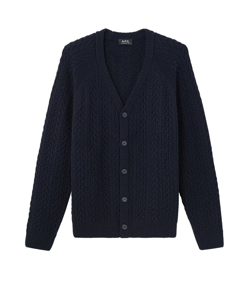 This is the Oversize Milton cardigan product item. Style IAK-1 is shown.