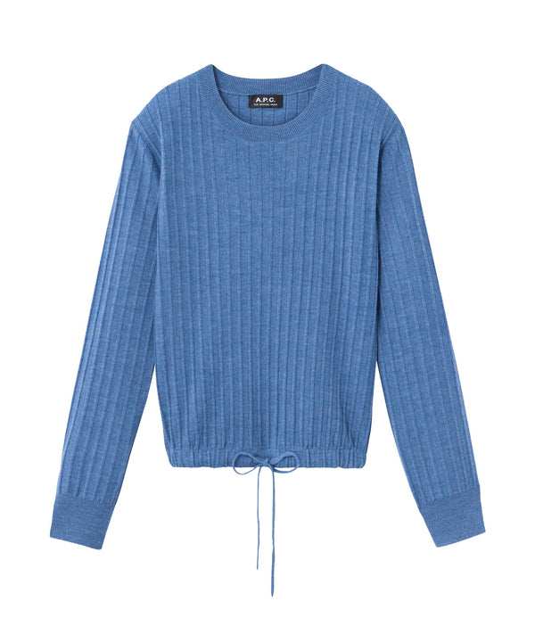 Taeko sweater - PIC - Heather steel blue
